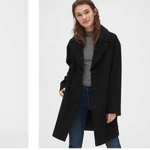 Gap oversized wool blend cocoon coat